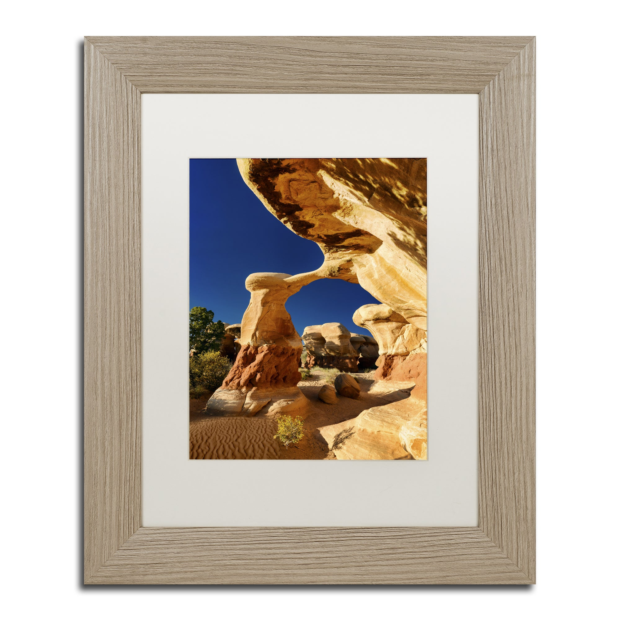Michael Blanchette Photography 'Metate Arch' Matted Frame...