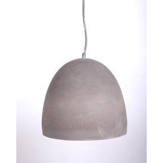 Modern Cement Shade Iron Pendant Dome Light