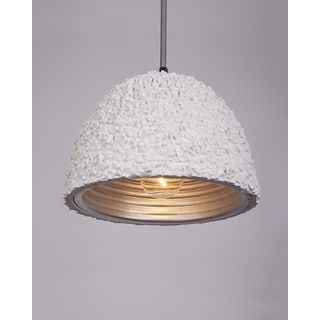 Modern White Cement Cup-shaped Shade Iron Pendant Light