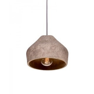 Concrete Pendant Light with Coarse Granular Shade