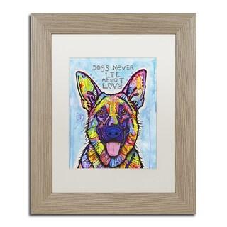 Dean Russo 'Dogs Never Lie' Matted Framed Art