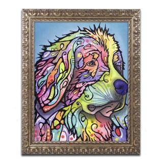 Dean Russo 'Mountain Dog' Ornate Framed Art