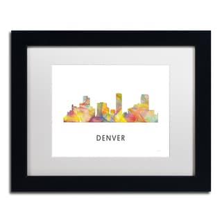 Marlene Watson 'Denver Colorado Skyline WB-1' Matted Framed Art