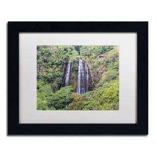 Pierre Leclerc 'Opaekaa Falls' Matted Framed Art
