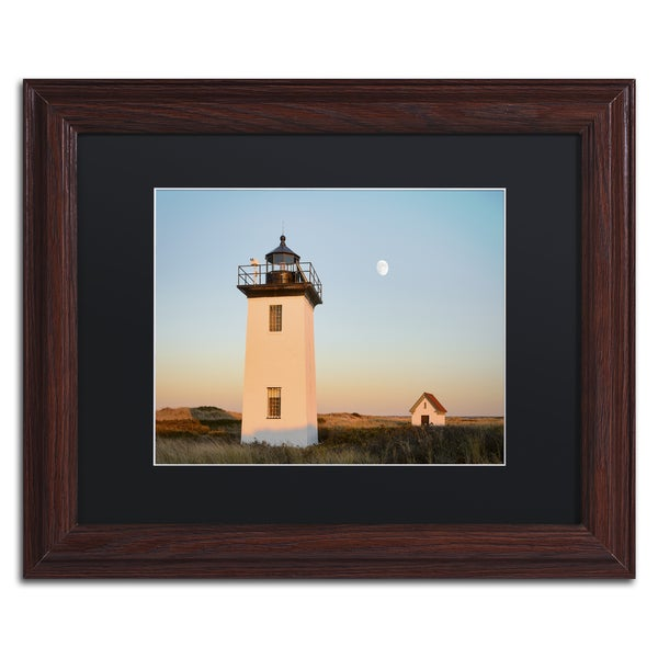 Michael Blanchette Photography 'Moon over Wood End' Matted Framed Art
