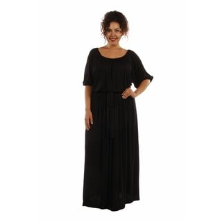 24/7 Comfort Women's Plus Size Maxi Dress