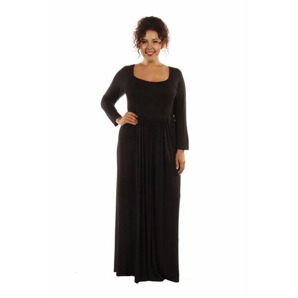 Shop 24/7 Comfort Plus Size Maxi Dress - On Sale - Free ...