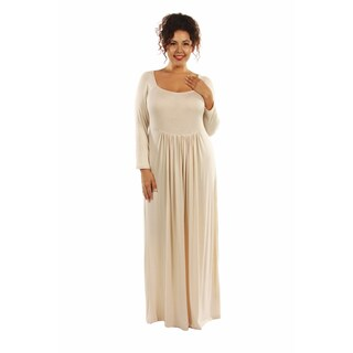 24/7 Comfort Plus Size Maxi Dress (2 options available)