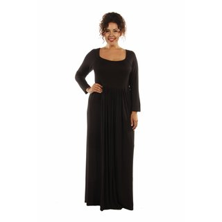 On Trend, Figure Flattering Plus Size Maxi Dress