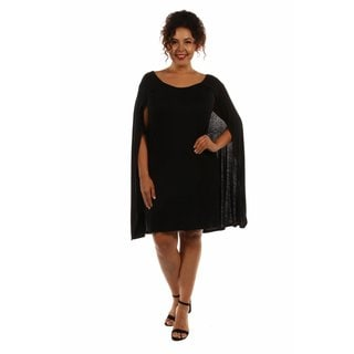 24/7 Comfort Women's Plus Size Cape Dress
