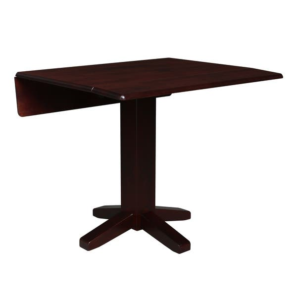 International Concepts Brown Wood 36 Inch Square Dual