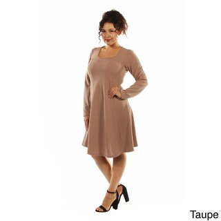 24/7 Comfort Women's Plus Size Midi Dress (Option: Tan - 2X)