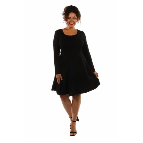 24/7 Comfort Women's Plus Size Midi Dress