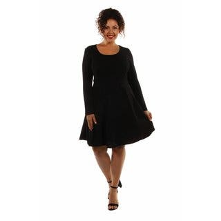 24/7 Comfort Women's Plus Size Midi Dress|https://ak1.ostkcdn.com/images/products/12981580/P19729300.jpg?impolicy=medium