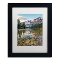 Pierre Leclerc 'Mount Edith Cavell Sunrise' Matted Framed Art