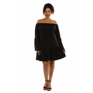 24/7 Comfort Apparel Women's Stunning Off Shoulder Romance Dress