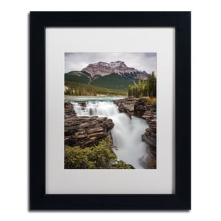 Pierre Leclerc 'Athabasca Falls' Matted Framed Art