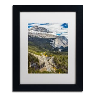 Pierre Leclerc 'Icefield Parkway' Matted Framed Art