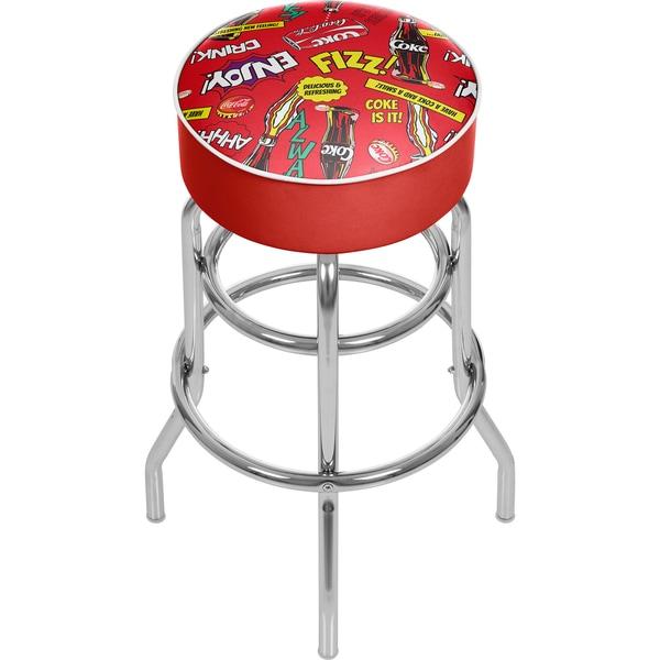 Coca Cola Padded Swivel Bar Stool - Pop Art