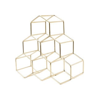 Metal Geometric Countertop Wine Rack by Kate and Laurel
