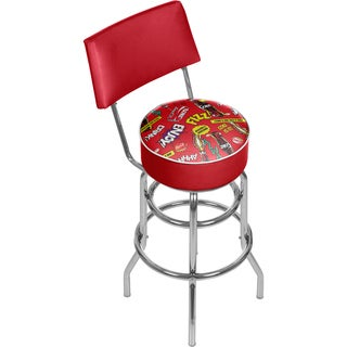 Coca Cola Swivel Bar Stool with Back - Pop Art