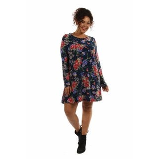 Stunning Plus Size Floral Midi Dress