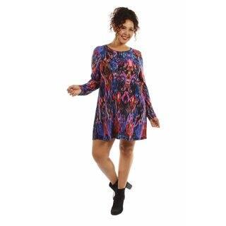 24/7 Comfort Apparel Women's The Eye Candy Plus Size Midi Dress|https://ak1.ostkcdn.com/images/products/12981680/P19729308.jpg?impolicy=medium