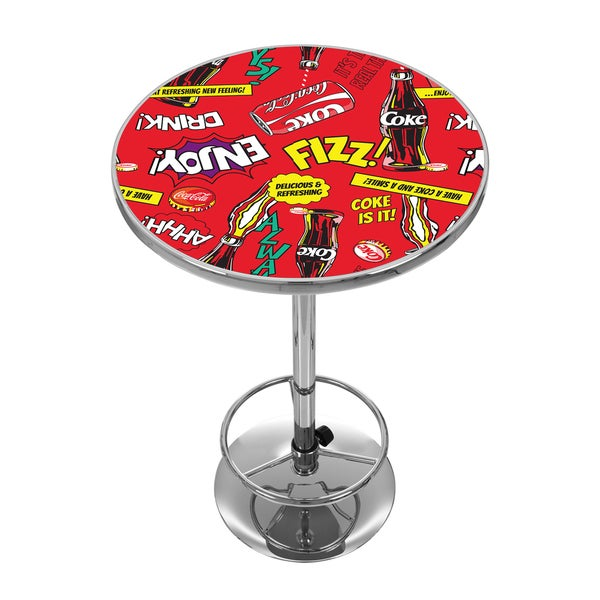 shop coca cola chrome pub table pop art on sale free shipping today 12981691. Black Bedroom Furniture Sets. Home Design Ideas
