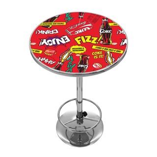 Coca Cola Chrome Pub Table - Pop Art