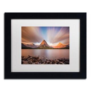 Pierre Leclerc 'Mount Grinnell Sunrise' Matted Framed Art