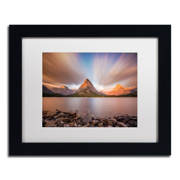 Pierre Leclerc 'Mount Grinnell Sunrise' Matted Framed Art