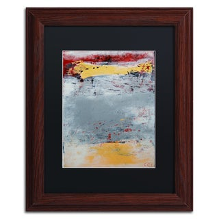 Nicole Dietz 'The Gray Yellow and Red One' Matted Framed Art