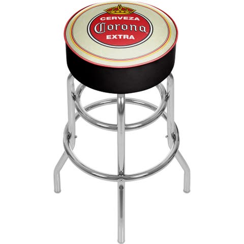 Corona Padded Swivel Bar Stool - Vintage