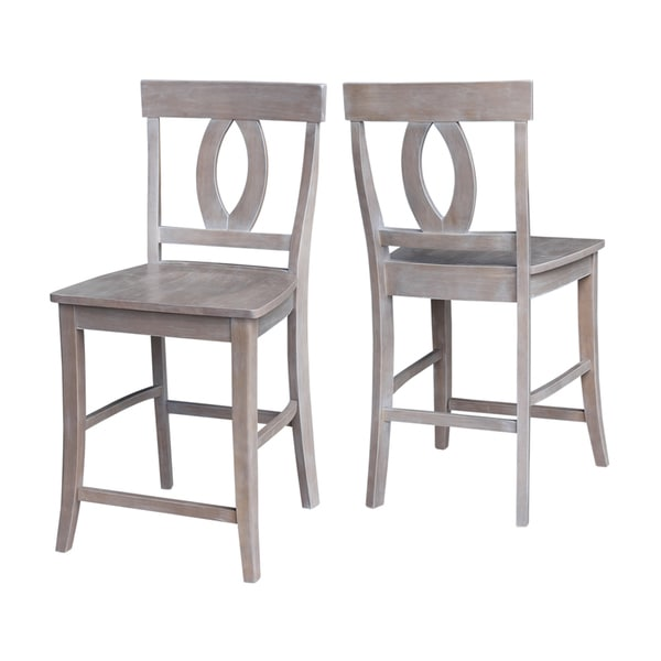 Shop Cosmo Grey Wood 24 Inch Counter Height Stool Free