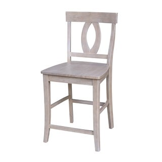 Cosmo Grey Wood 24-inch Counter Height Stool