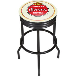 Corona Black Ribbed Bar Stool - Vintage