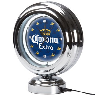 Corona Chrome Retro Style Tabletop Neon Clock - Griffin