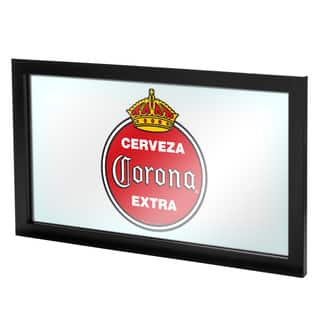 Corona Framed Logo Mirror - Vintage|https://ak1.ostkcdn.com/images/products/12981844/P19728906.jpg?impolicy=medium