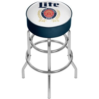 Miller Lite Padded Swivel Bar Stool - Retro