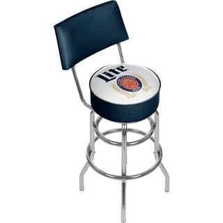 Miller Lite Swivel Bar Stool with Back - Retro