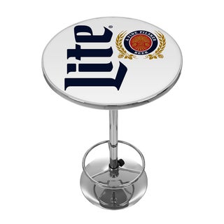 Miller Lite Chrome Pub Table - Retro