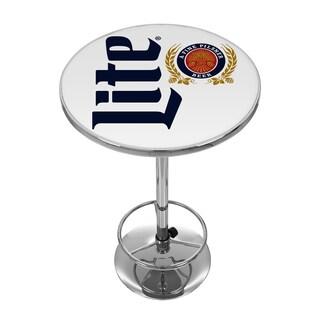 Miller Lite Chrome Pub Table - Retro