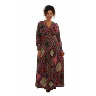 24/7 Comfort Apparel Women's Feel Great, Look Gorgeous in this Showstopper Plus Sized Maxi Dressl