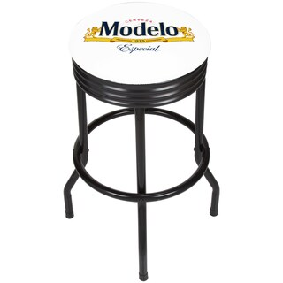 Modelo Black Ribbed Bar Stool