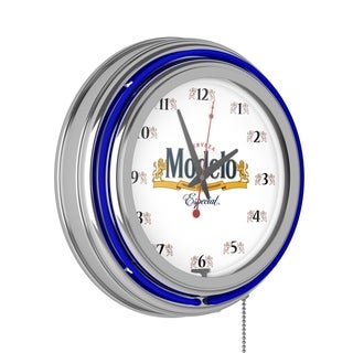 Modelo Chrome Double Rung Neon Clock