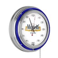 Modelo Chrome Double Rung Neon Clock