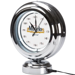 Modelo Chrome Retro Style Tabletop Neon Clock