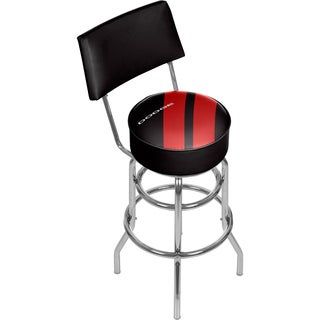 Dodge Bar Stool with Back - Big Stripe