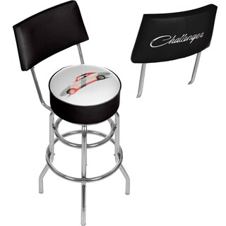 Dodge Bar Stool with Back - Challenger Stripes