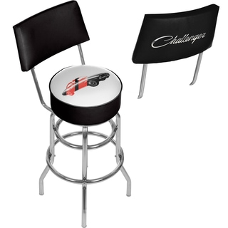 Dodge Bar Stool with Back - Challenger Stripes 2